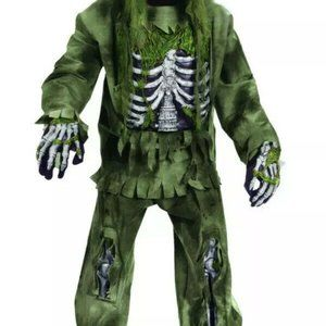Boys Green Moss Decayed Skeleton Zombie Halloween